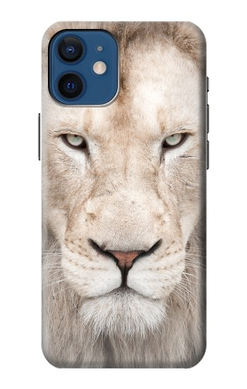Printed White Lion Face iPhone 12 mini Case