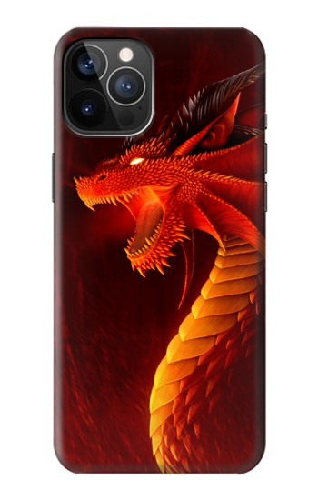 Printed Red Dragon iPhone 12 Pro Case