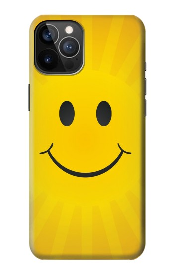 Printed Yellow Sun Smile iPhone 12 Pro Case