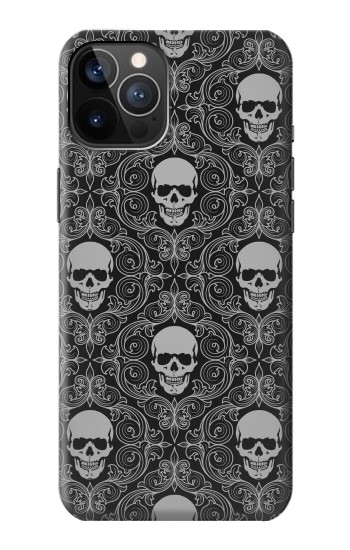 Printed Skull Vintage Monochrome Pattern iPhone 12 Pro Case