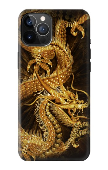Printed Chinese Gold Dragon Printed iPhone 12 Pro Case