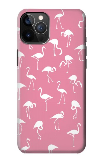 Printed Pink Flamingo Pattern iPhone 12 Pro Case
