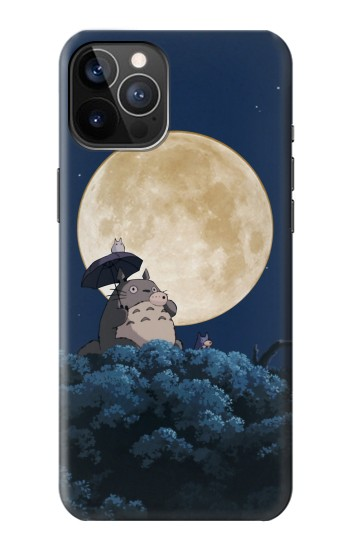 Printed Totoro Ocarina Moon Night iPhone 12 Pro Case