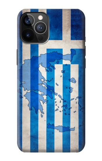 Printed Greece Map Flag iPhone 12 Pro Case