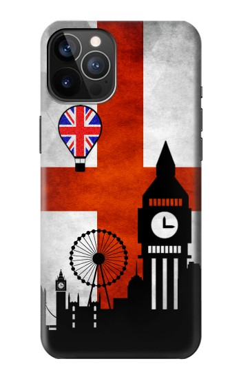 Printed England Football Flag iPhone 12 Pro Case