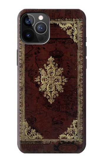 Printed Vintage Map Book Cover iPhone 12 Pro Case