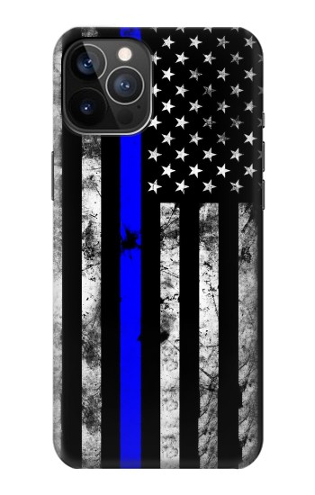 Printed Thin Blue Line USA iPhone 12 Pro Case