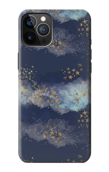 Printed Gold Star Sky iPhone 12 Pro Case