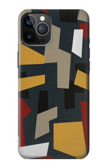 Printed Abstract Fabric Texture iPhone 12 Pro Case