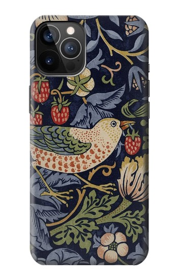 Printed William Morris Strawberry Thief Fabric iPhone 12 Pro Case