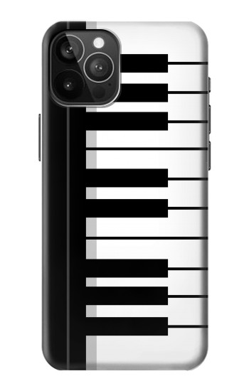 Printed Black and White Piano Keyboard iPhone 12 Pro Max Case