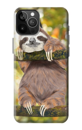 Printed Cute Baby Sloth Paint iPhone 12 Pro Max Case