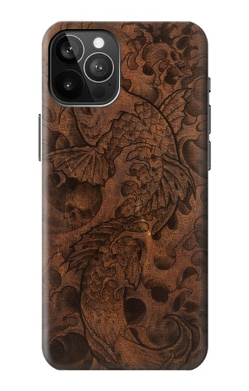 Printed Fish Tattoo Leather Graphic Print iPhone 12 Pro Max Case