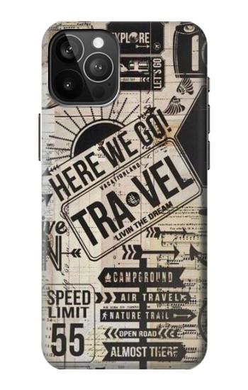 Printed Vintage Travel iPhone 12 Pro Max Case