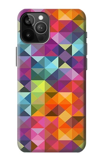 Printed Abstract Diamond Pattern iPhone 12 Pro Max Case