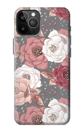 Printed Rose Floral Pattern iPhone 12 Pro Max Case