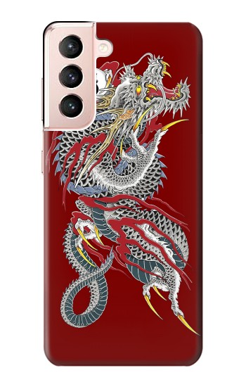 Printed Yakuza Dragon Tattoo Samsung Galaxy S21 5G Case