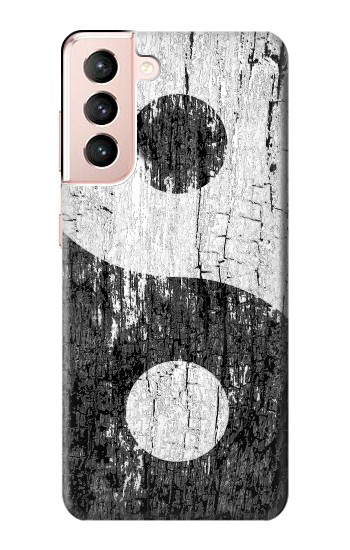 Printed Yin Yang Wood Samsung Galaxy S21 5G Case