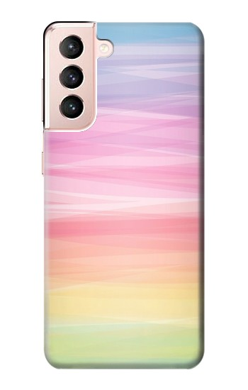 Printed Colorful Rainbow Pastel Samsung Galaxy S21 5G Case