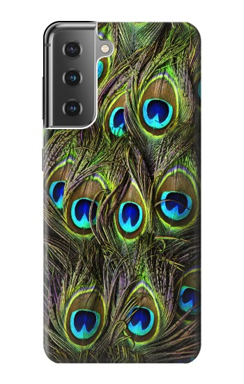 Printed Peacock Feather Samsung Galaxy S21+ 5G Case