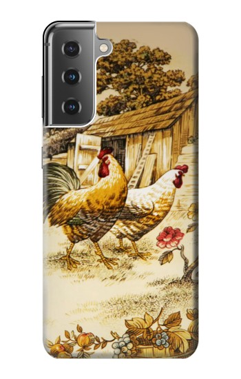 Printed French Country Chicken Samsung Galaxy S21+ 5G Case