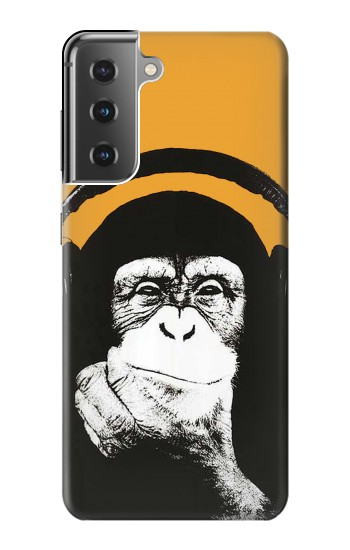 Printed Funny Monkey with Headphone Pop Music Samsung Galaxy S21+ 5G Case