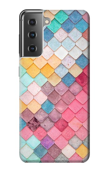 Printed Candy Minimal Pastel Colors Samsung Galaxy S21+ 5G Case