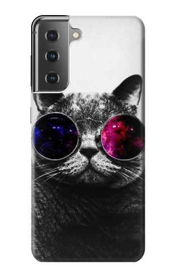 Printed Cool Cat Glasses Samsung Galaxy S21+ 5G Case