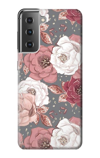 Printed Rose Floral Pattern Samsung Galaxy S21+ 5G Case