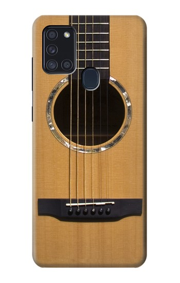 Printed Acoustic Guitar Samsung Galaxy A21s Case