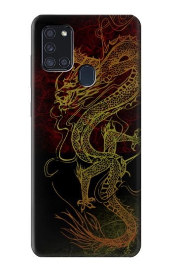 Printed Chinese Dragon Samsung Galaxy A21s Case