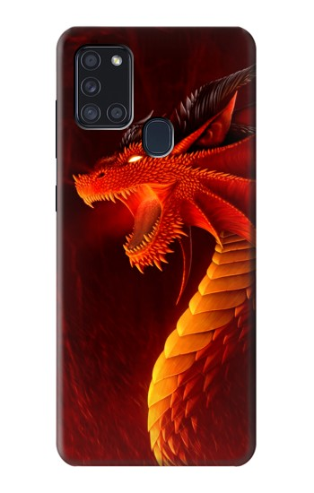 Printed Red Dragon Samsung Galaxy A21s Case
