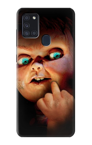 Printed Chucky Middle Finger Samsung Galaxy A21s Case