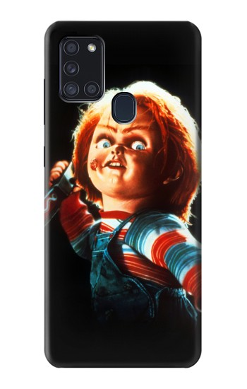 Printed Chucky With Knife Samsung Galaxy A21s Case
