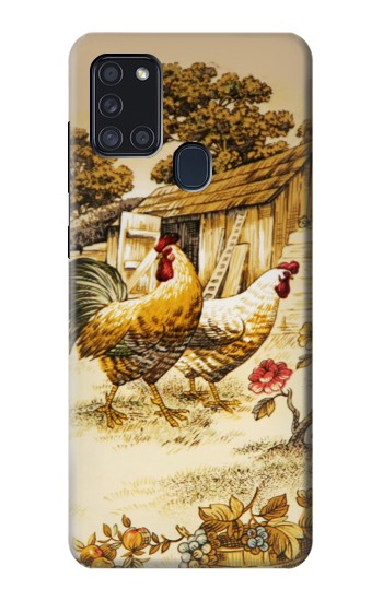 Printed French Country Chicken Samsung Galaxy A21s Case