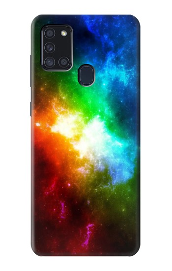 Printed Colorful Rainbow Space Galaxy Samsung Galaxy A21s Case