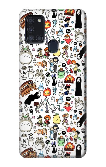 Printed Ghibli Characters Samsung Galaxy A21s Case
