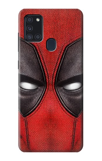 Printed Deadpool Mask Samsung Galaxy A21s Case