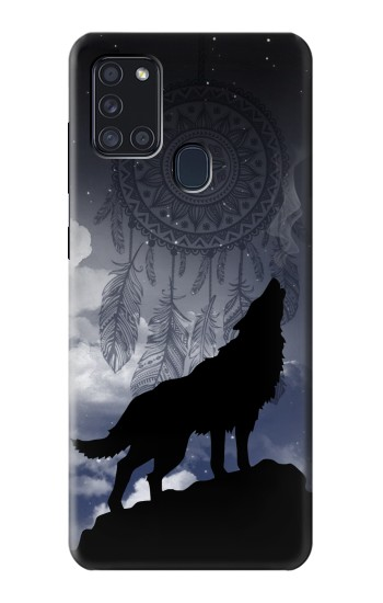 Printed Dream Catcher Wolf Howling Samsung Galaxy A21s Case