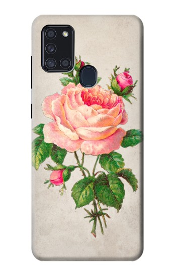 Printed Vintage Pink Rose Samsung Galaxy A21s Case