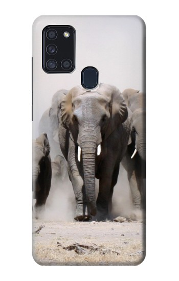 Printed African Elephant Samsung Galaxy A21s Case