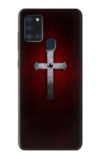 Printed Christian Cross Samsung Galaxy A21s Case