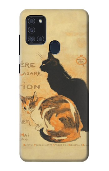 Printed Vintage Cat Poster Samsung Galaxy A21s Case