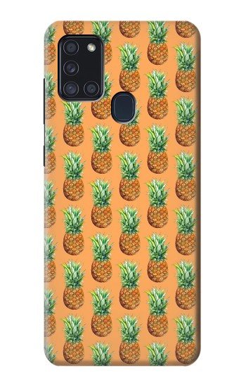 Printed Pineapple Pattern Samsung Galaxy A21s Case
