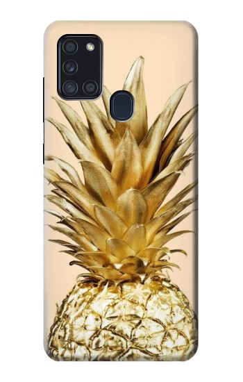 Printed Gold Pineapple Samsung Galaxy A21s Case