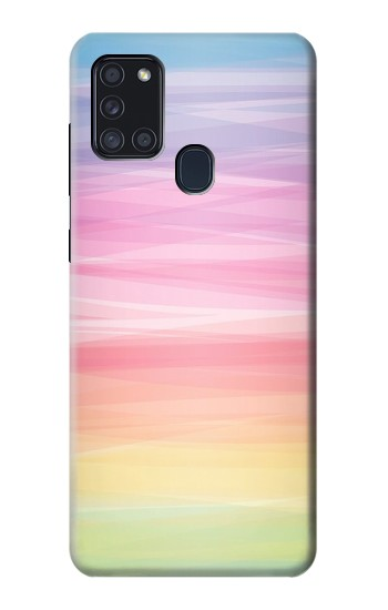 Printed Colorful Rainbow Pastel Samsung Galaxy A21s Case