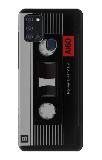 Printed Vintage Cassette Tape Samsung Galaxy A21s Case