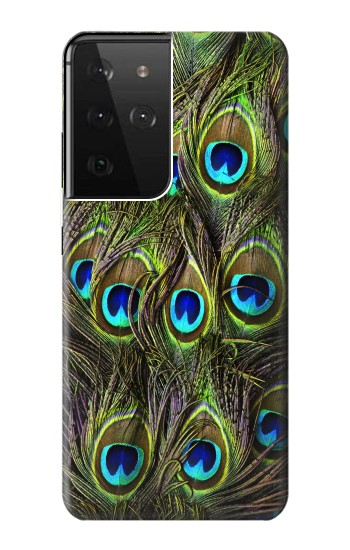 Printed Peacock Feather Samsung Galaxy S21 Ultra 5G Case