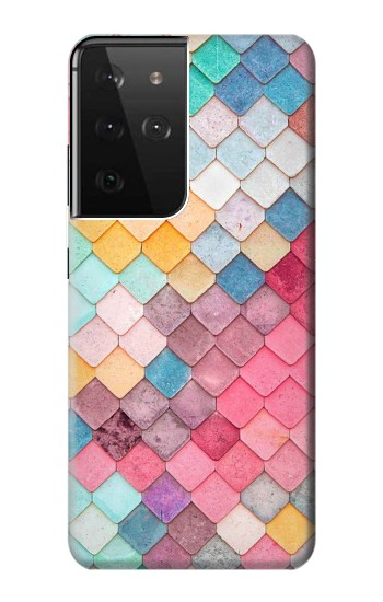 Printed Candy Minimal Pastel Colors Samsung Galaxy S21 Ultra 5G Case