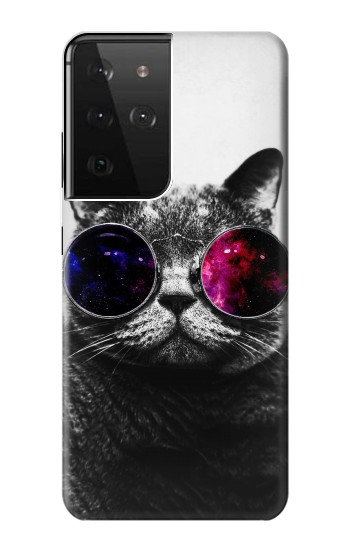 Printed Cool Cat Glasses Samsung Galaxy S21 Ultra 5G Case